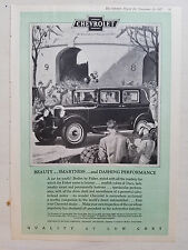 1927 Chevrolet Sedan Motor Car Beauty Smartness Performance Original Color Ad