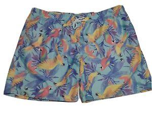 St Johns Bay Mens Swim Trunk Size XXL Parrots Mesh Lining  Above Knee NEW