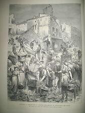 TOULOUSE INONDATIONS ESCRIME DUEL SICILE BERSAGLIERI BRIGANDAGE GRAVURES 1875