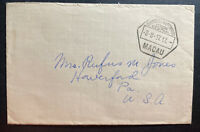 1947 Portuguese Macau Back Stamps Cover To Haverford PA USA