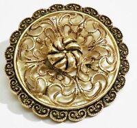serre passe foulard bijou vintage dentelle relief ajouré couleur or *3282