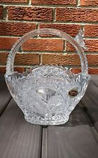Hofbauer The Byrdes 24% Lead Crystal Basket Bowl Bird Handle Vintage Glass