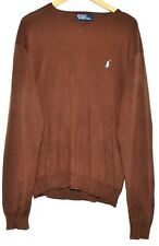 GREAT POLO RALPH LAUREN BROWN LILAC COTTON CREW NECK SWEATER JUMPER SIZE L