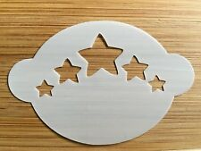 Face paint stencil reusable washable Christmas stars Mylar 2.5 in x 1.75