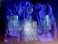 More details for royal scot hand cut crystal edinburgh whisky decanter & glass set *new* rrp £330