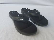 New Women's Nike Ultra Comfort 3 Thong AR4498 003 Black with White