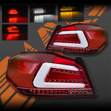 Red Clear Full LED Sequential Indicator Tail lights for Subaru STI & WRX 14-18