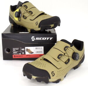Scott MTB Team Boa Mountain Bike Shoes Beige/Black Men's Size 11 US / 45 EU