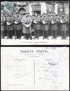 Año 1910. Tarjeta Postal. San Sebastián. Nº 97. Miqueletes de Guipúzcoa.