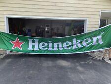 Over 18ft Heineken Banner Beer Hanging Banner Advertising Garage