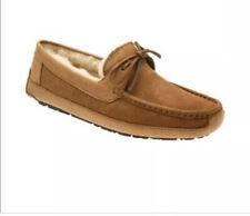 UGG Byron Chestnut Suede Sheepskin Slippers Moccasins Loafer Shoes Size 12 Mens