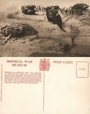 WWI TANKS in BATTLE 1918 BRITISH IMPERIAL WAR MUSEUM ANTIQUE POSTCARD