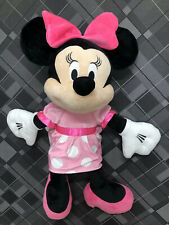 Minnie Mouse Disney Baby Jumbo  Plush Stuffed Toy Pink Cute Crinkle Bow 40""