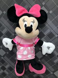 "Minnie Mouse Disney Baby Jumbo  Plush Stuffed Toy Pink Cute Crinkle Bow 40"""