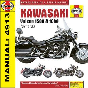 Kawasaki VN1500 & VN1600 Vulcan Haynes Manual 4913 NEW