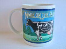 Hershey's Chocolate Milk Coffee Mug Made on the Farm Cow Cup 10 oz 1993