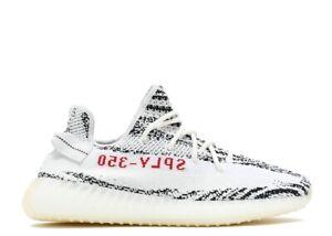 ADIDAS Yeezy Boost 350 V2 Shoes - Size 11.5, Zebra White/Black