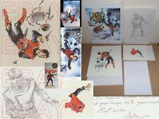 More details for gerry anderson captain scarlet mike noble original artwork + poster + letter