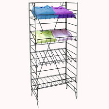 "Wire Rack 4 Shelf Retail Candy Snack Chips Shirts Display Fixture 55"" Tall New"