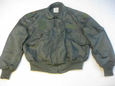 USAF US Air Force Summer Green MAJ Flight Flyers Jacket CWU-36/P XL XLarge 46-48