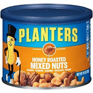 Planters Honey Roasted Mixed Nuts Variety mixed nuts with Peanuts, Cashews