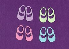 SHOEs LITTLE GIRL die cuts scrapbook cards