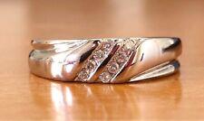 950 Solid Platinum 0.16 Ct Natural Diamond Men Band ring SI2, H, 8.1 Grams