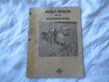 Massey Ferguson No 31 rear mounted mower operator's owner's manual