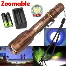 Tactical  High Power 350000LM  Flashlight 5Modes  LED Aluminum Zoomable Torch