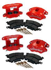 "WILWOOD BIG GM BRAKE CALIPER,PAD SET W/PINS,RED,FRONT & REAR,1.28"" DISCS,D52"