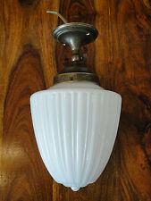 Deckenlampe Jugendstil Lampe Messing Antik Wandlampe Opal Glas Art déco Edel NEU