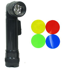 US Army BLACK Right-Angle TL-132 TORCH - Medium American Military LED Flashlight