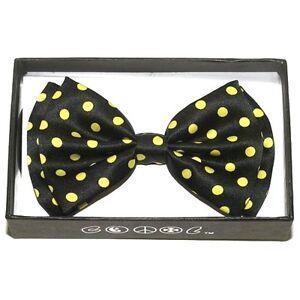 Unisex Mens Womens Adjustable Tuxedo Necktie Bow Tie 6 Colors ~ Polka Dots
