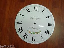 Cadran horloge comtoise recent non percé ,26,8 cm Cent vignes dial uhr