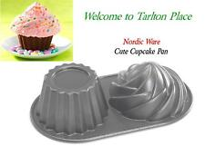 Nordicware BIG CUTE CUPCAKE PAN 6 Cup HAPPY BIRTHDAY CAKE Bake Frost & Celebrate