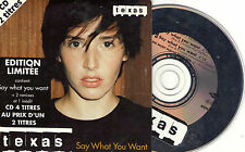 CD CARTONNE CARDSLEEVE 4T TEXAS SAY WHAT YOU WANT EDIT. LIMITEE FRENCH STICK