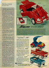 1975 ADVERTISEMENT Pedal Jaguar Coupe Sweep Car Wagon Stake Fire Fighter Truck