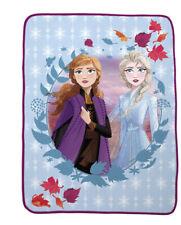 "Disney Frozen II - Elsa Anna 40"" x 60"" Throw-Blanket New"