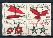 Niuafo'ou 2017 MNH Christmas Parrots Birds Boats Flowers 4v Block Stamps