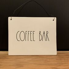"Rae Dunn LL ""Coffee Bar"" Hanging Wall Sign New"