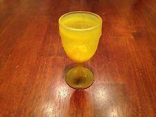 Boyd Crystal Art Glass Daffodil Tear Drop Wine Glass
