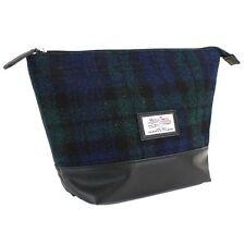 Harris Tweed WASH BAG (Black Watch Tartan) NUOVO 25127