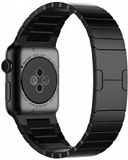Apple Watch Band Stainless Steel iWatch Strap Metal Butterfly Buckle Black 42mm