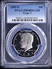 1981-S 50C Type 1 DC (Proof) Kennedy Half Dollar #1 PCGS PR68DCAM