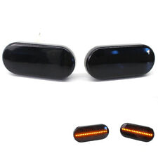 Fit VW Jetta Golf Bоra T5 Passat Smoked Lens Front Fender LED Side Marker Lights