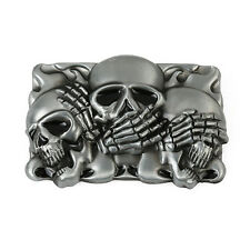 Funny 3D Skull Buckle Fashion Creative Scalp Punk Belt Buckle Zinc Alloy