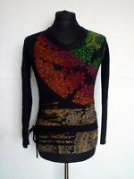 DESIGUAL Long Sleeve Top Sweater Shirt Women's Jumper Size M