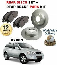 FOR SSANGYONG KYRON 2.0 DT 1/2006-> NEW REAR BRAKE DISCS SET + DISC PADS KIT