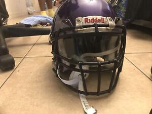 Riddell Speed Helmet, Size Medium - Purple, W/ Visor