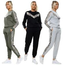 Womens Tracksuit Set Ladies Side Panel Print 2pc Co Ord Loungewear Tracksuit New
